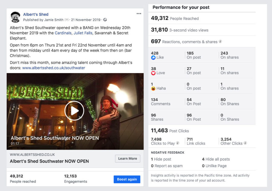 Video Marketing on a Budget Example Stats