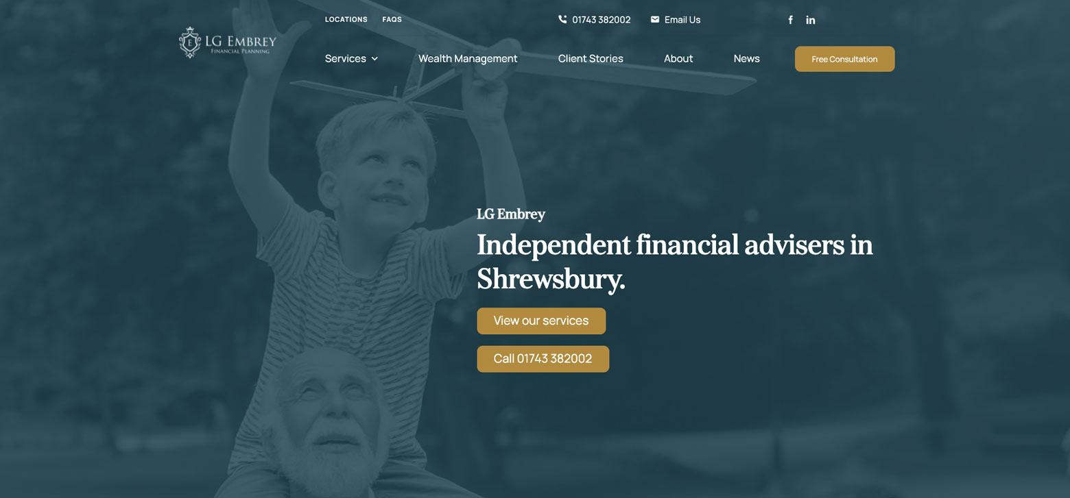 Financial Planning Website Shrewsbury
