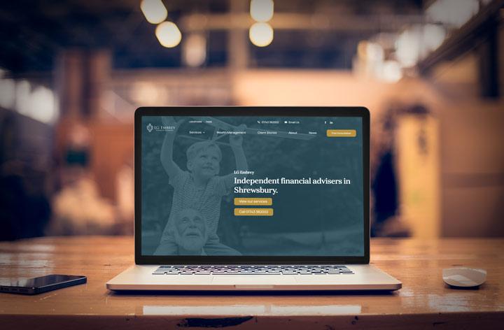 LG Embrey Web Design Shrewsbury Website